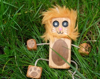 LionNed. Wooden toys. Wooden robot. For children. Nursery decor. Childrens toy. For toddlers.