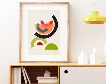 Uberlegen Mitte Des Jahrhunderts Moderner Kunst, Vintage Stil Druck, Abstrakte  Kunstwerk Cocktail Ich Wand Kunstdruck