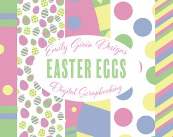 Easter Eggs Digital Scrapbook Pages