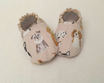 Baby Shoes - Puppy Love (baby shoes, baby mocs, baby booties, baby shower gift)