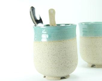 Kitchen Utensil Holder, Ceramic Utensil Holder, Housewarming Gift Ideas, Toothbrushe Dryer, Turquoise Utensil Holder, Ceramic And Pottery