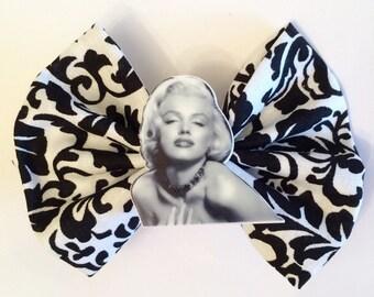 Marilyn Monroe Hair Bow, Actress Fabric Hair Bow