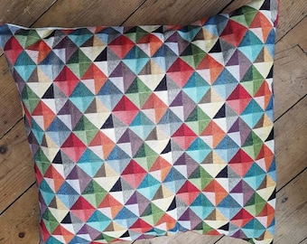 Multicoloured tapestry cushion cover