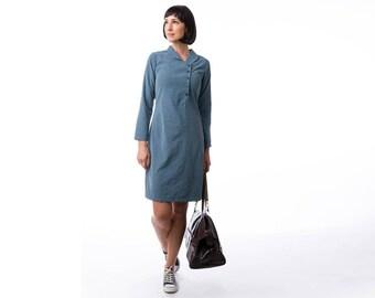 Blue dress, winter dress , mini dress, Long Sleeve Dress, Fashion Dress, Womens Winter Dresses