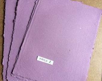 Purple paper 1, handmade paper, eco friendly paper, recycled paper, textured paper, homemade paper, decorative paper, purple paper, grape