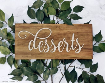Custom Table Sign, Dessert Table Sign, Party Table Sign, Dessert Sign, Wedding Reception Sign, Custom Wood Wedding Table Decor (GP1451)