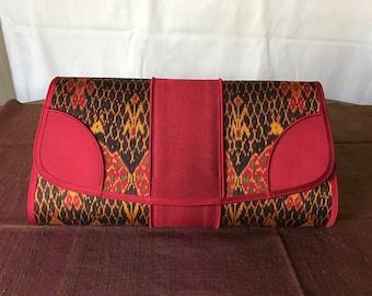 Handmade silk clutch 009