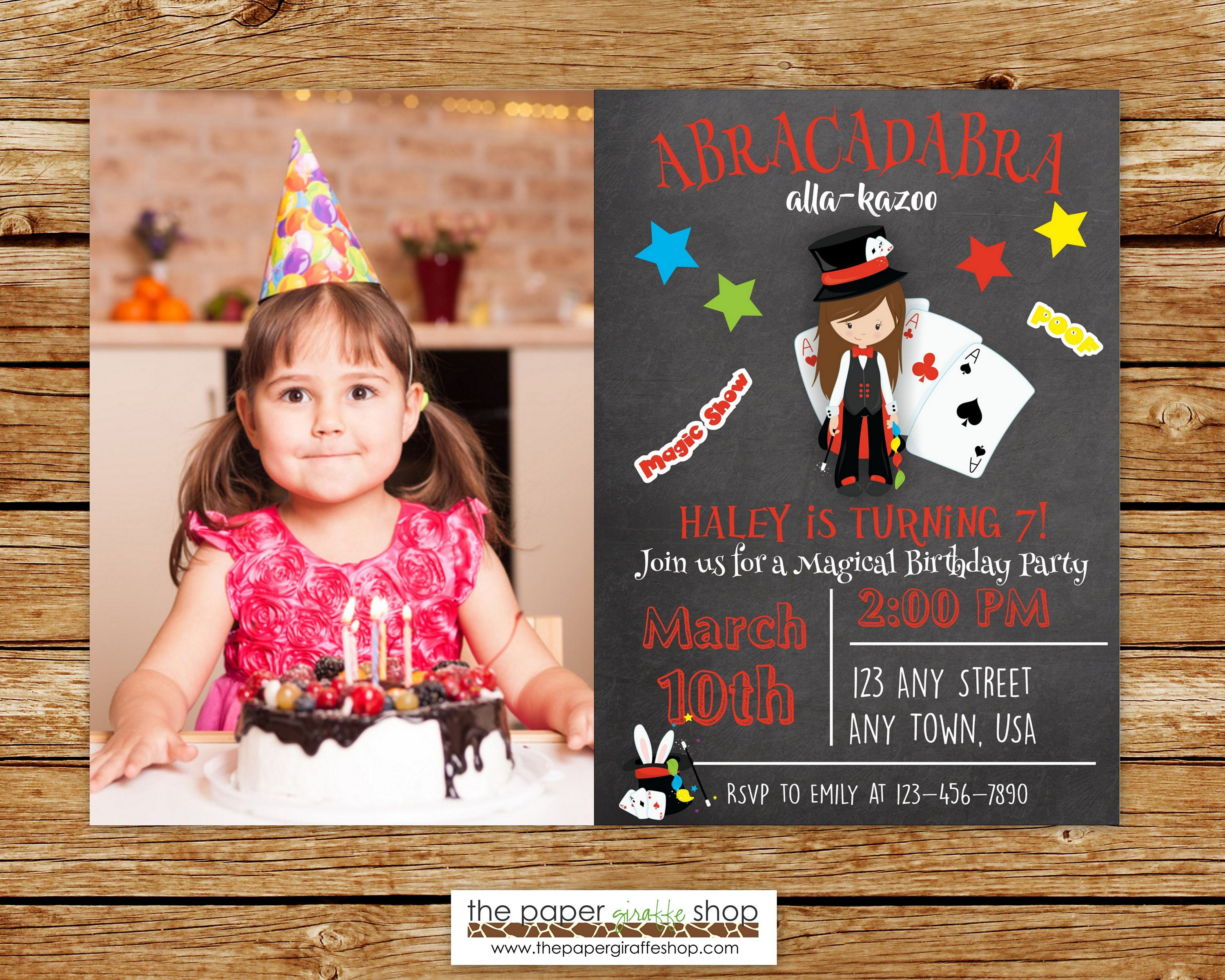 Birthday Invitations Magic With Hat special wedding cards