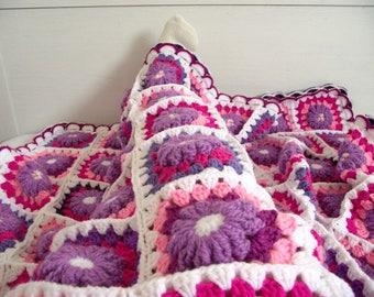 Crochet Blanket Pattern - Majesty Blanket - baby crochet blanket pattern, granny squares blanket pdf instant download motif flowers