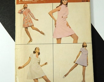 Redbook RB100 Misses Dress in Four Versions Vtg 1960s Size 16 Bust 38 Cut Complete