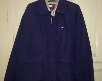Original Vintage Tommy Hilfiger Navy Blue M Jacket
