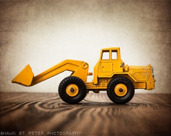 Vintage Toy Front End Loader One Photo Print, Boys Room decor, Construction Vehicle, Boys Nursery Ideas