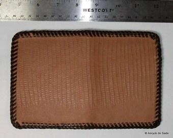 Genuine Leather Money Clip Flip Wallet