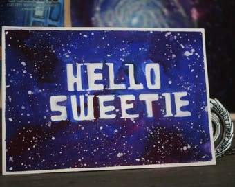 Galaxy Nerdy Valentine's Note Card |River Song Doctor Who| 4x6 Wall Art