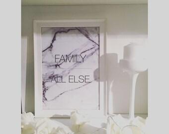 Family above all else print.