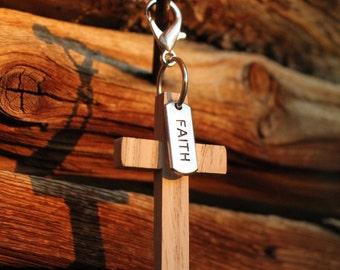 Gift Under 10 Dollars,Christian Faith Wood Cross,Small Wood Cross,Christian Gifts for Women,Christian Gifts for Men,Wooden Cross,Cross