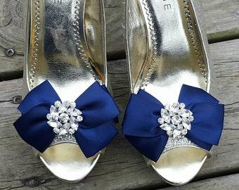 Shoe Clips, Wedding Shoe Clips, Bridal Shoe Clips, Clips for Wedding Shoes, Bridal Shoes, Satin Bridal Bows, Bow Shoe Clips
