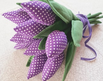 Tulip fabric decorative flowers