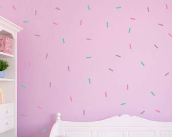 Sprinkle Wall Decals, 3 Color Sprinkle Wall Stickers, Peel and Stick Wall Decals, 102 PCS, Girls Wall Decals, Photo Prop