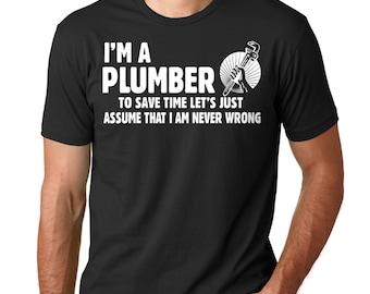 Plumber T-Shirt Gift For Plumber Funny Profession Occupation T-Shirt Plumbing Uniform Tee Shirt