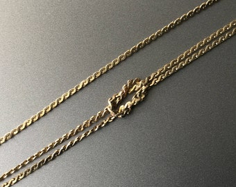 3 Strand S Chain Love Knot Bracelet - Vintage Eternity Knot Signed Snake Chain Bracelet - 1/20 14K Gold Filled