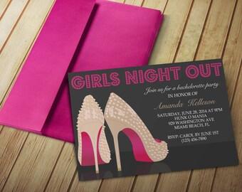 Girls night invite etsy solutioingenieria Choice Image