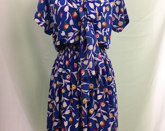 1980's Breezy Silk Albert Nipon Dress