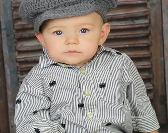 Gray Newsboy Hat/Scully Cap