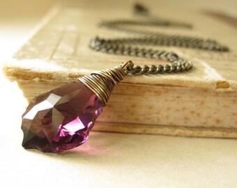 Royal romance baroque swarovski crystal necklace