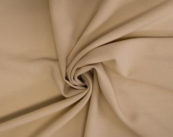 Natural Dark Stretch Crepe Fabric - 1 Yard Style 482