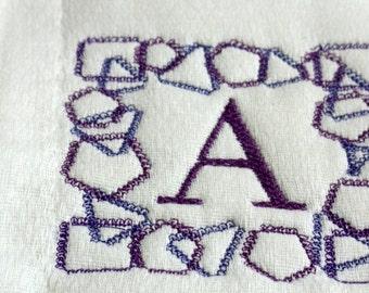 Embroidery Burp Cloth # 67 Alphabet Font Cloth Diaper