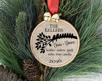Ornaments Personalized Family Christmas Ornament, Holiday Ornaments, Christmas Ornament for Family, Holiday Ornament, Custom Tree Decor