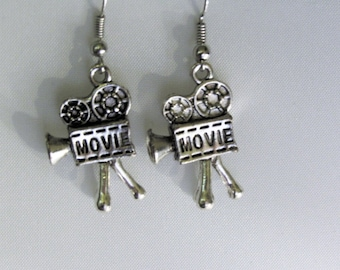 Movie Projector Reel Earrings