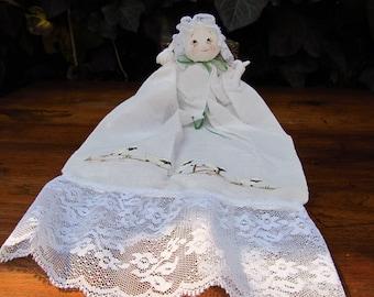 Vintage Hankie Doll - Hanky Doll - Folk Art Hankie Doll