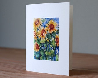 Handmade Sunflower Photo Card