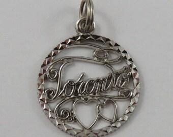 Toronto Sterling Silver Vintage Charm For Bracelet