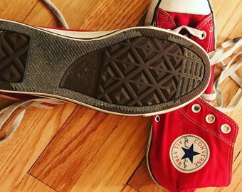 Vintage ree hi top sneakers shoes converse 7 mens fits 8.5-9 womens