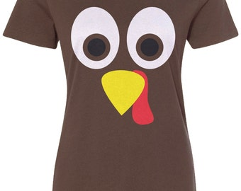 Thanksgiving Turkey Face Unisex Adult Pullover Hoodie Sweatshirt - TA_00371 HRG2Gv