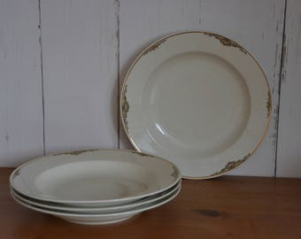 Deep plate Zeh Scherzer porcelain, decorated with gold