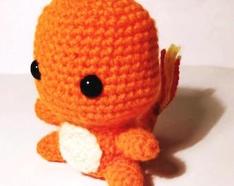 Amigurumi Charmander, amigurumi, charmander, Pokémon, Pokemon, stuffed Pokémon, stuffed Pokemon, Pokémon plush, Pokemon plushie, crocheted