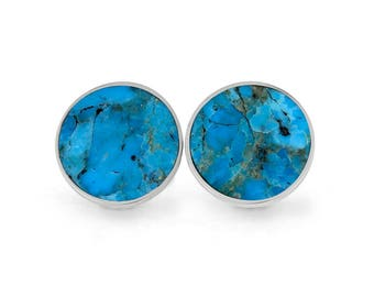 Turquoise Cuff Links in Sterling Silver