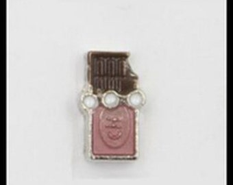 Floating Charm Chocolate Candy Bar for Floating Glass Living Memory Lockets