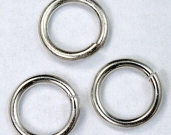 9mm Silver Jump Rings #RJW008