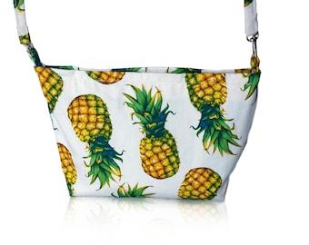 Tropical Pineapple print handbag