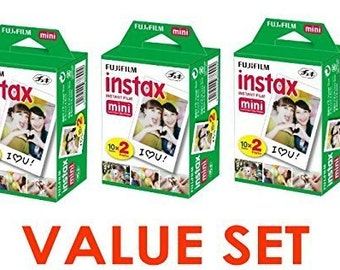 New Best Price! Fujifilm Instax Mini Instant Film 2 x 10 Shoots x 3Pack (Total 60 Shoots) VALUE! - FAST SHIPPING!!!