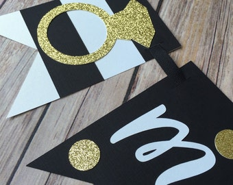 Kate Spade bridal shower banner