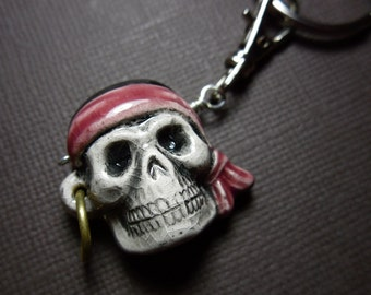 Scurvy Dog Pirate Skull keychain - For swashbuckling adventure seeking boys and girls of all ages -Free Shipping USA