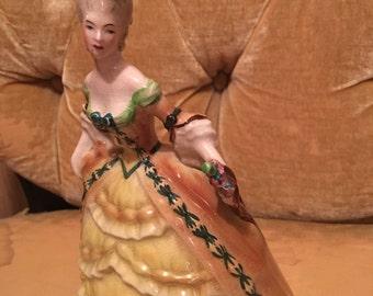 Vintage women figurine goldscheider original madame pompadour peggy poreber