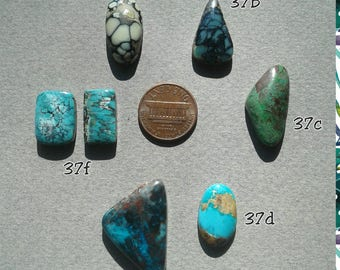 37c, desert bloom, emerald city, royston, shattackite, blue turquoise, all natural turquoise, high grade, cab, turquoise fever, designer cab