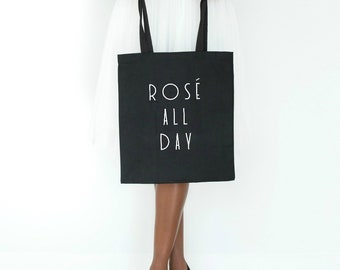 rose all day, tote bag, bachelorette party, bridal party tote bags, yes way rose, rose all day shirt, tote bags for bridesmaids
